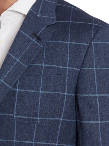 Paul Smith London Windowpane check regular fit jacket