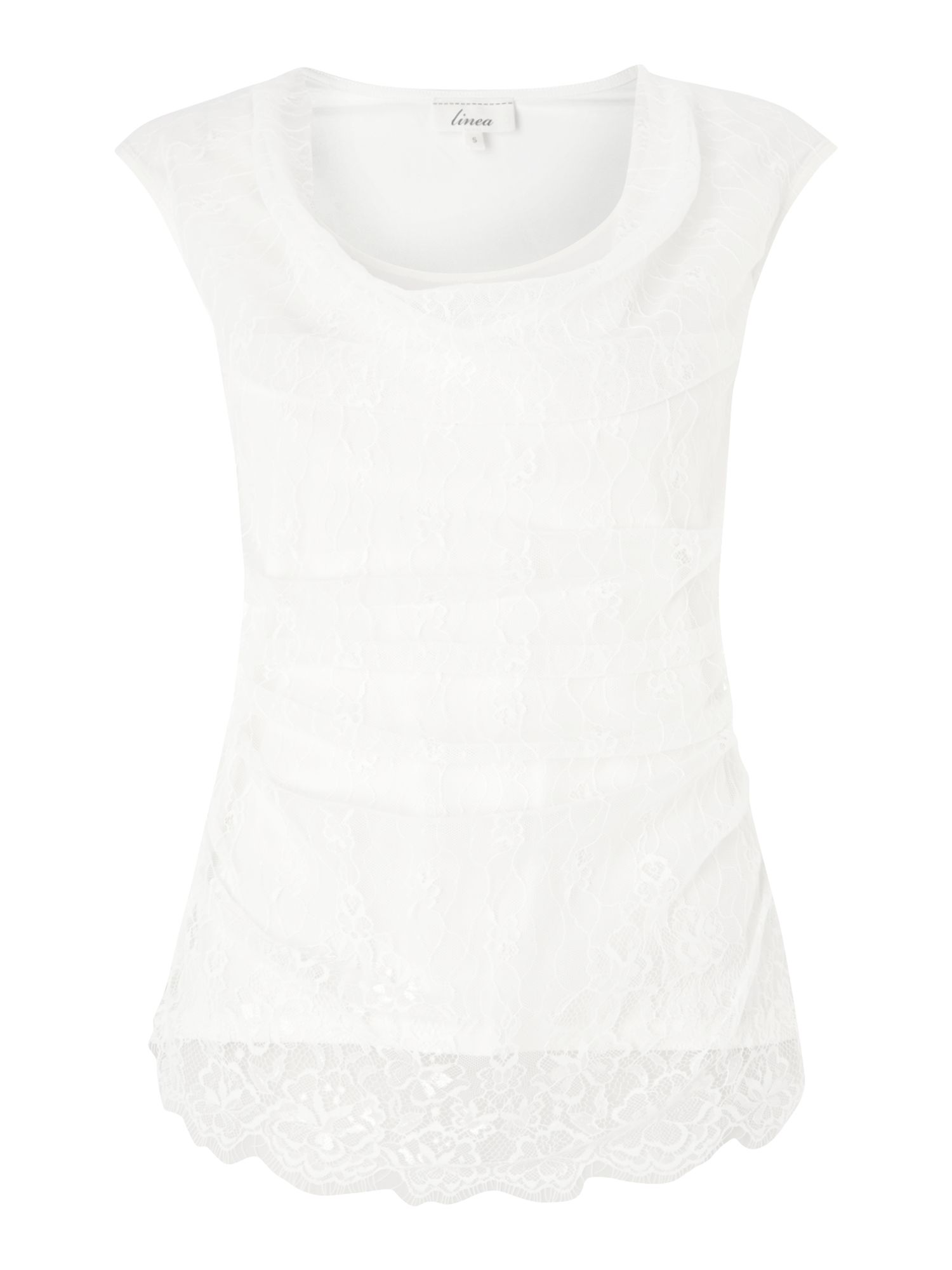 Ruby lace front jersey top
