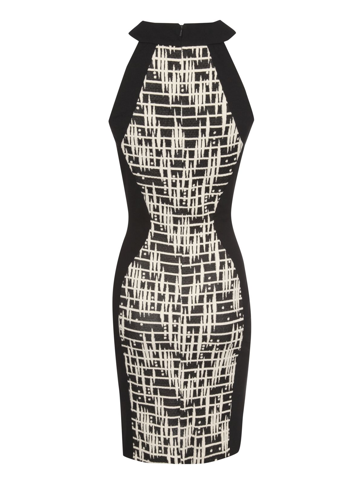 Cut out jaquard dress