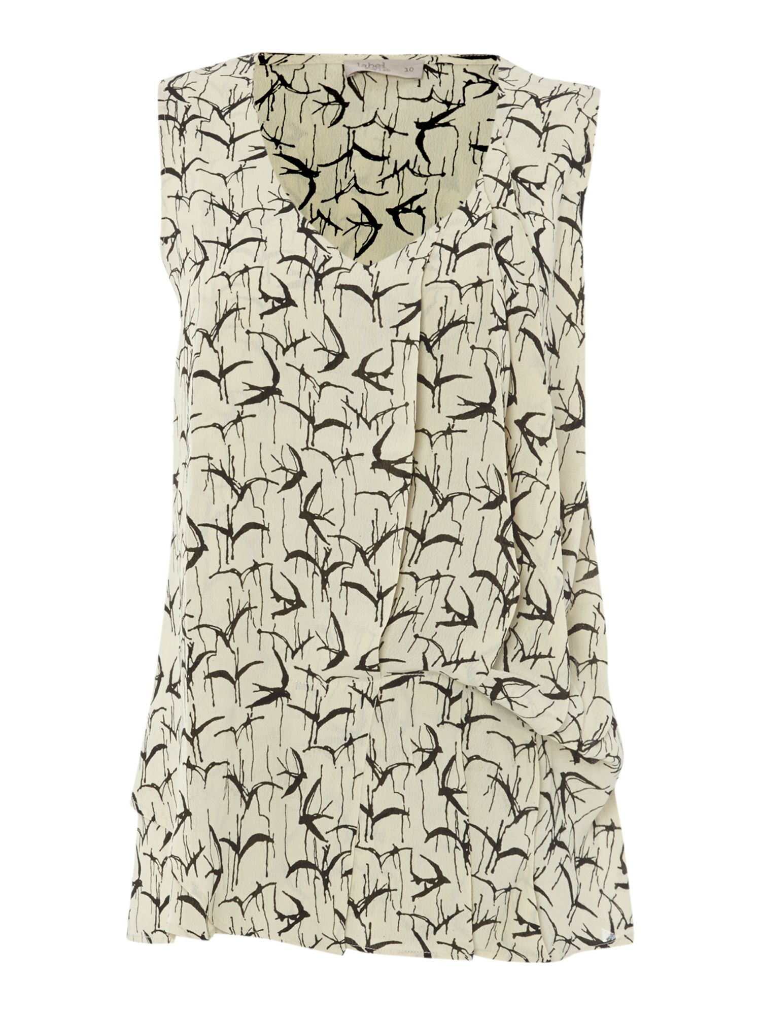 Hitch inky bird print top