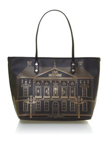 Black large portable home tote bag