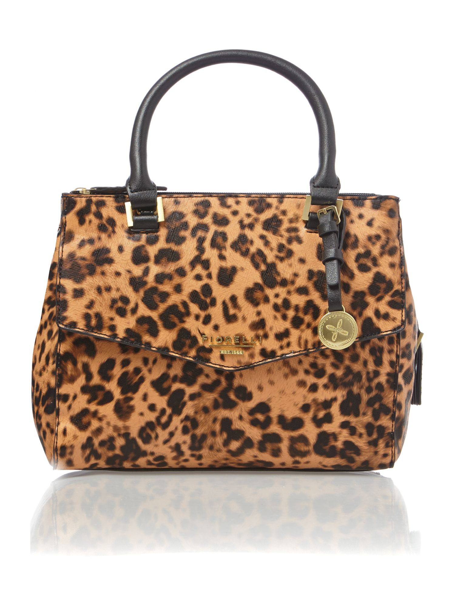 Mia leopard cross body bag