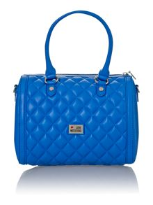Blue medium quilted bowling bag