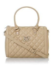 Neutral medium quilted bowling bag
