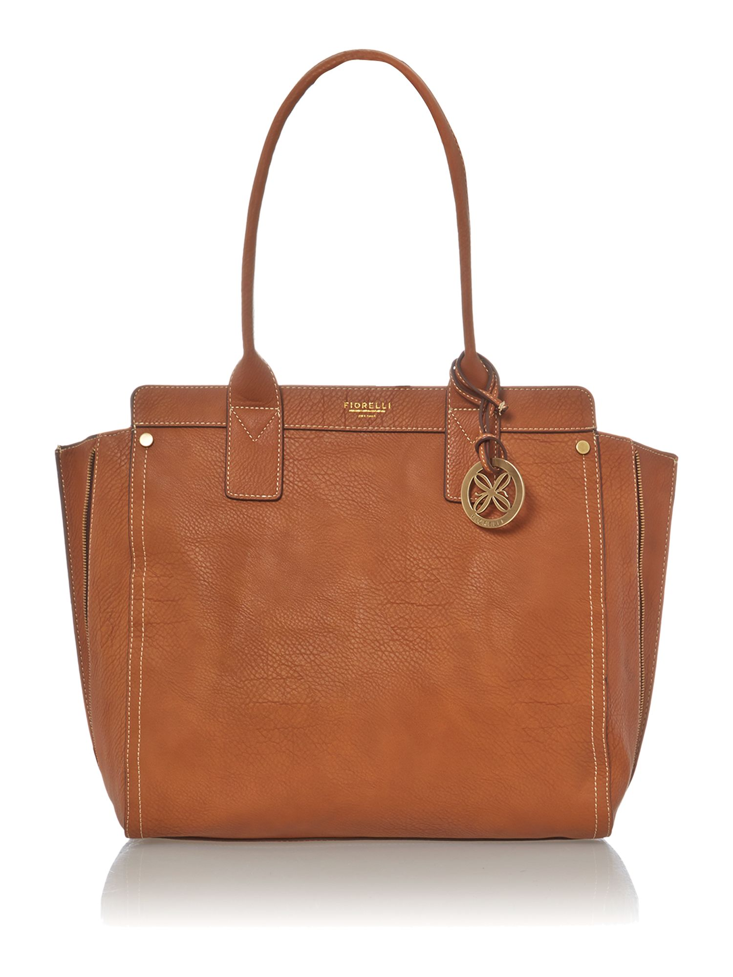 Agyness tan tote bag