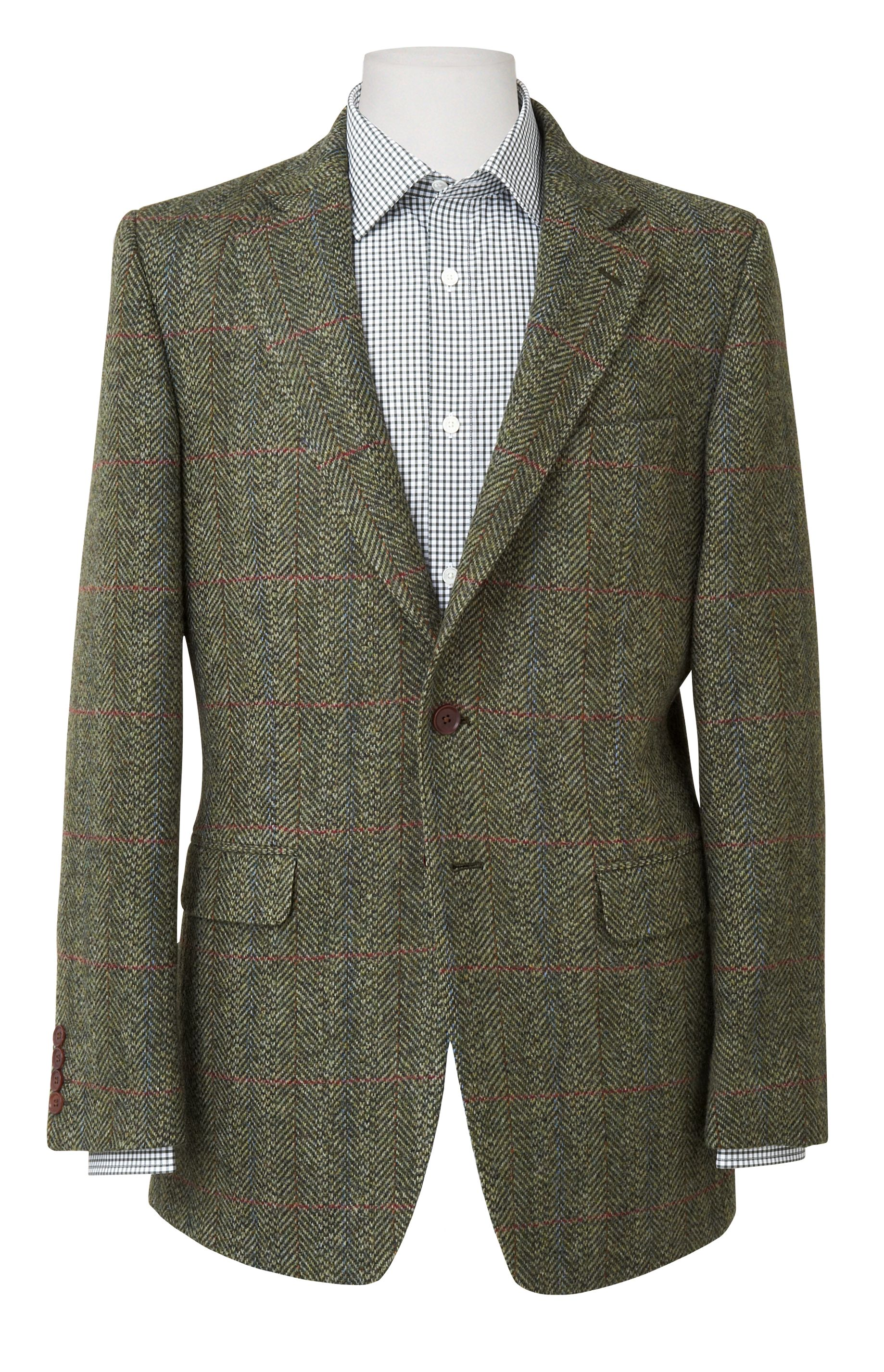 Hunter green tweed jacket