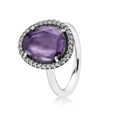 Pandora Statement amethyst ring