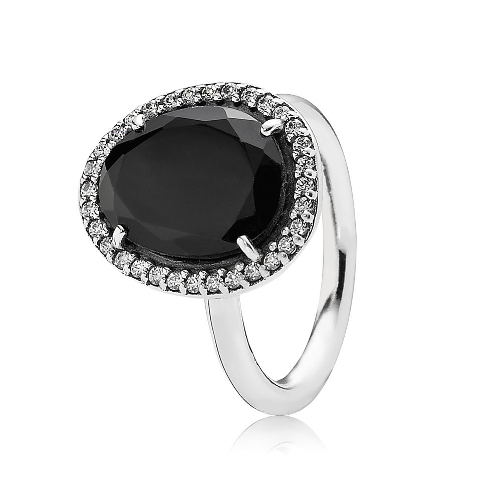 Statement black spinel ring