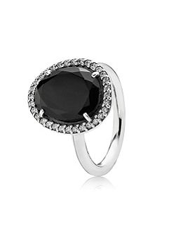 Pandora Statement black spinel ring