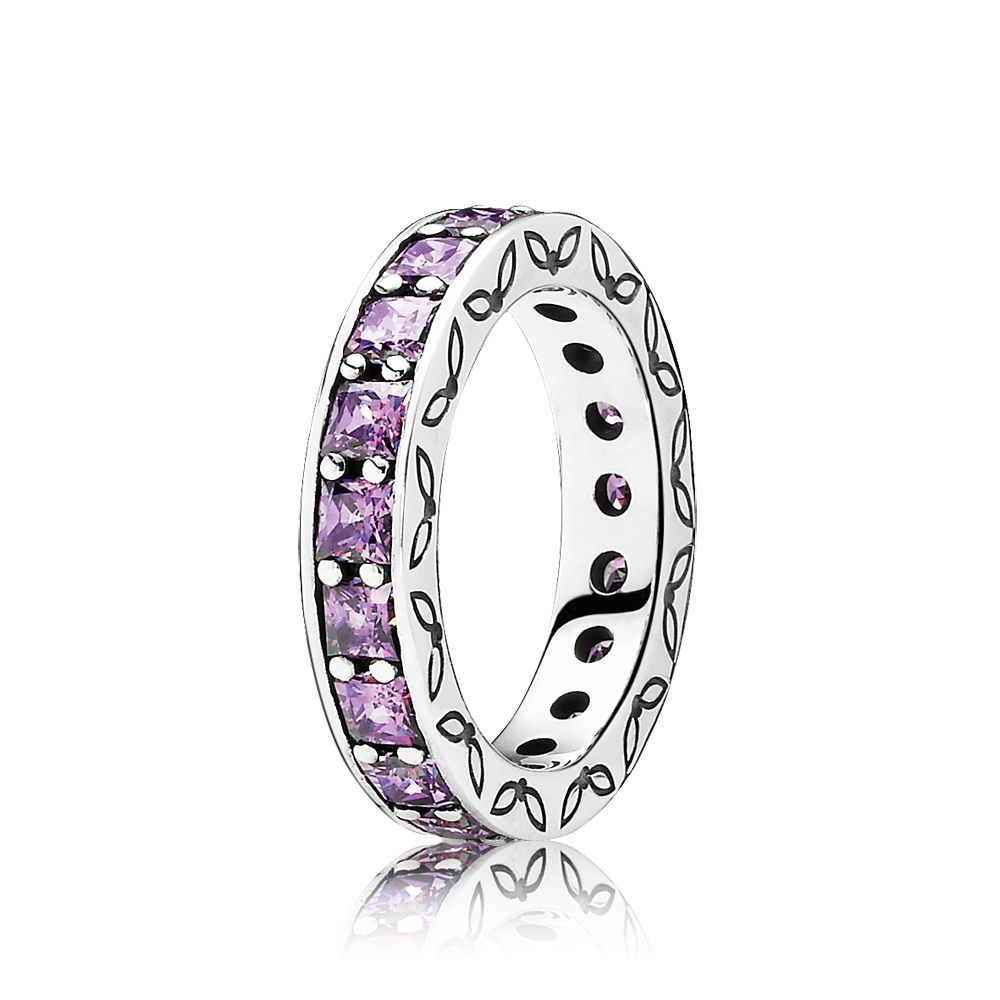 Purple eternity ring