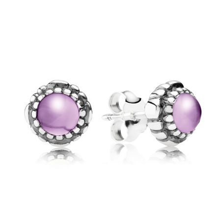Pandora February birthstone stud earrings