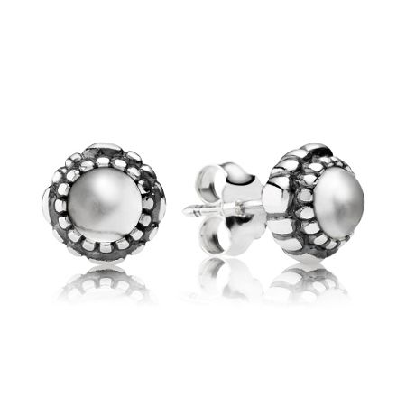 Pandora April birthstone stud earrings