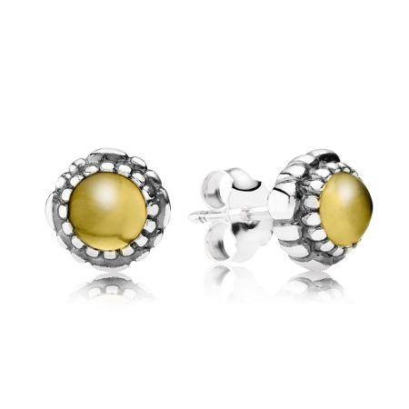Pandora November birthstone stud earrings