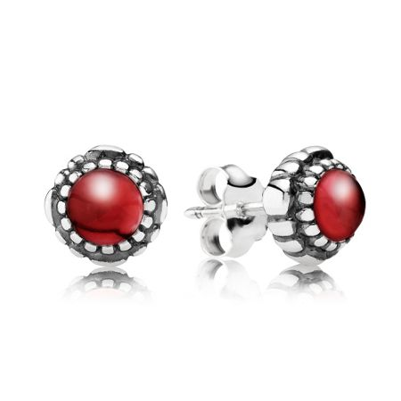 Pandora January birthstone stud earrings