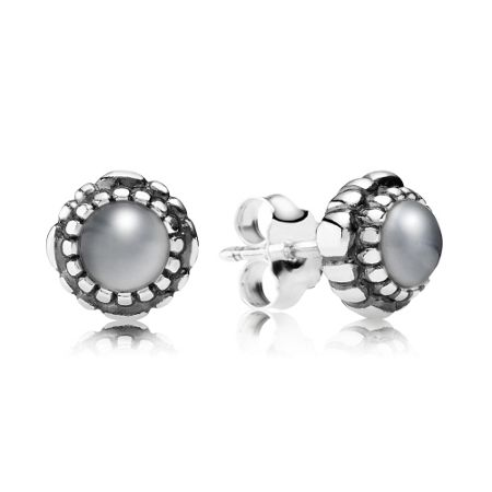 Pandora June birthstone stud earrings