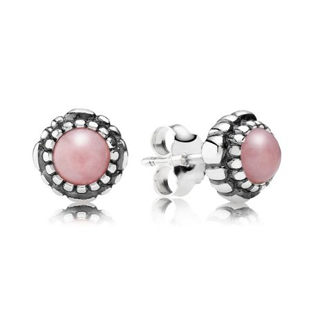 Pandora October birthstone stud earrings