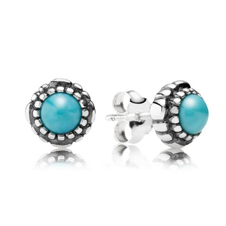 Pandora December birthstone stud earrings