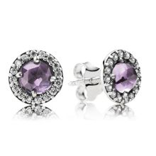 Pandora Sparkling amethyst stud earrings