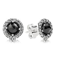 Pandora Sparkling black spinel stud earrings