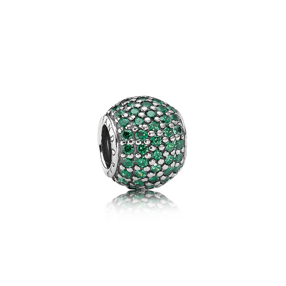 Green pavé ball charm