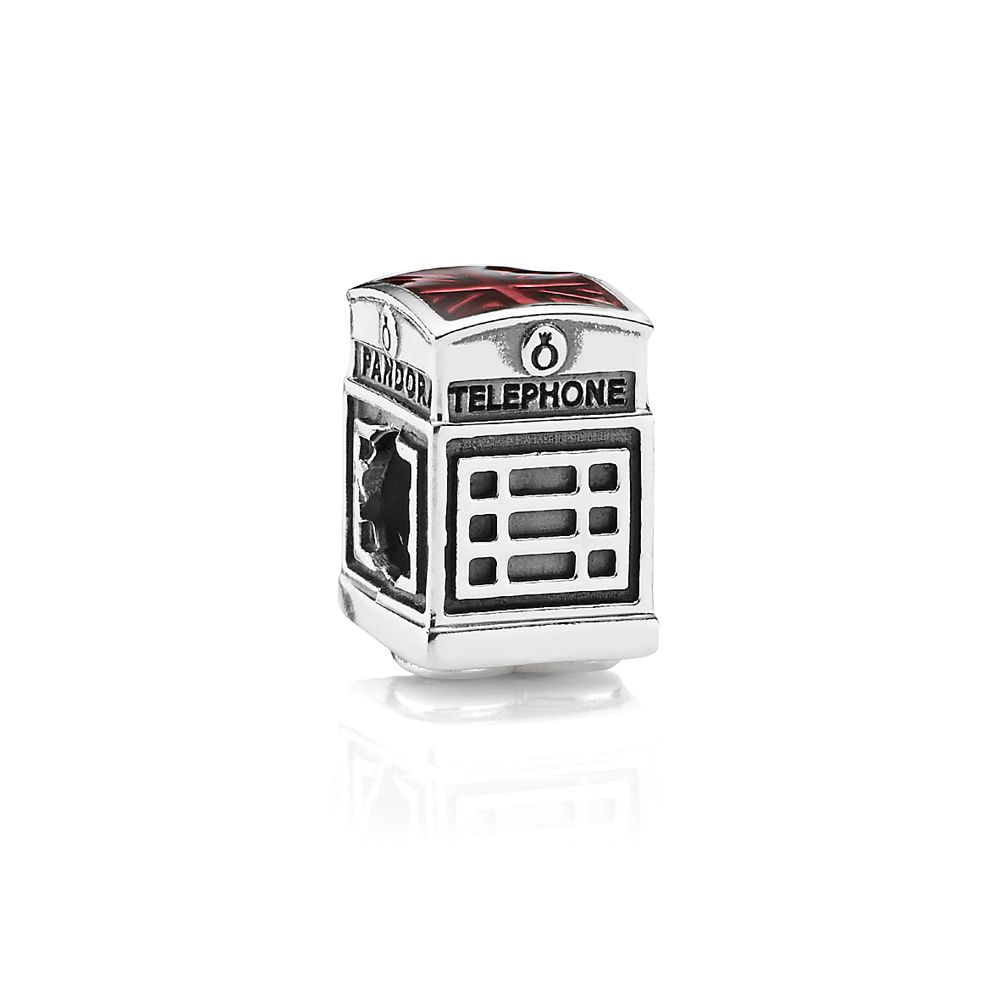 Telephone box charm