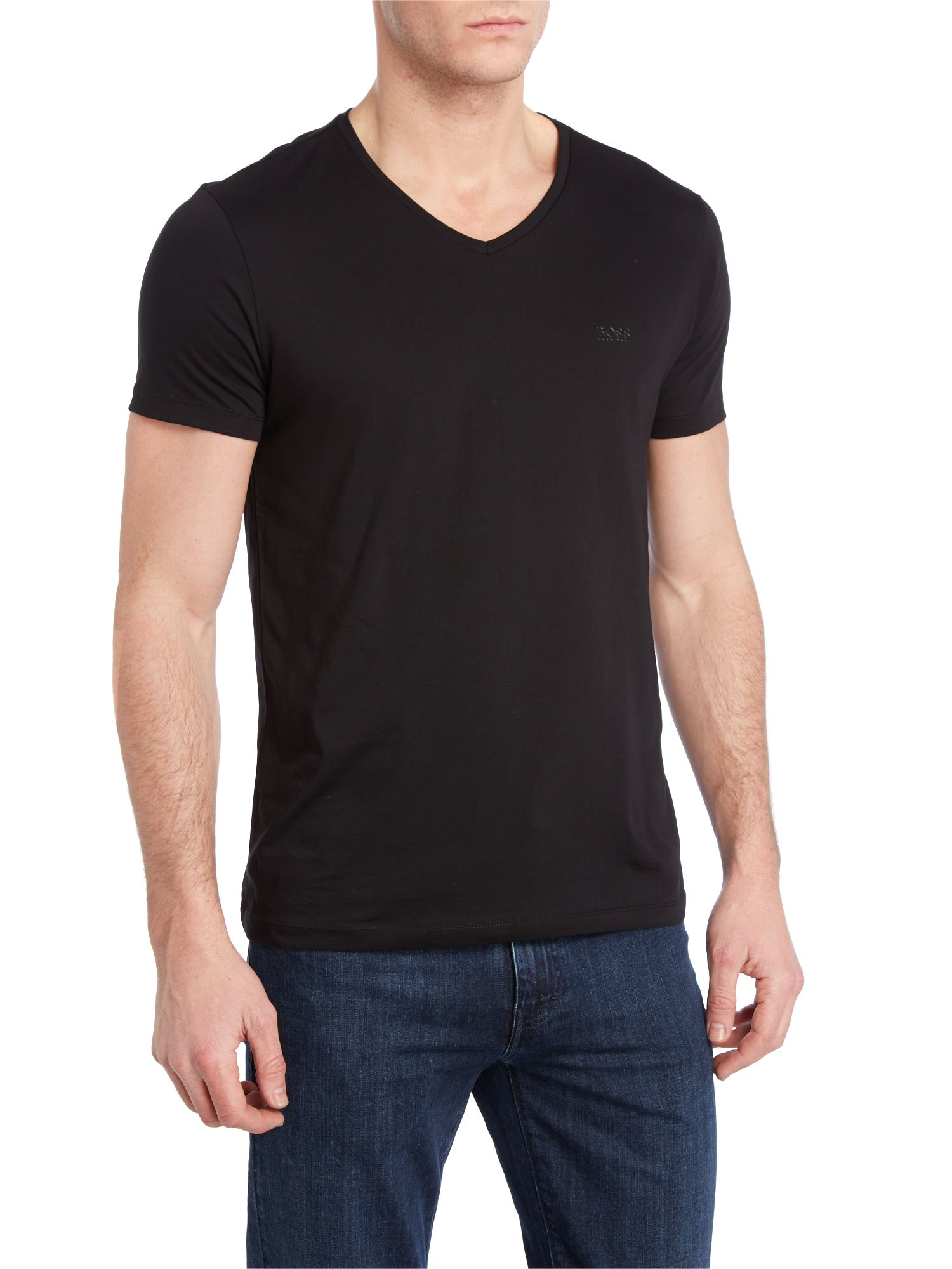 V neck logo t shirt