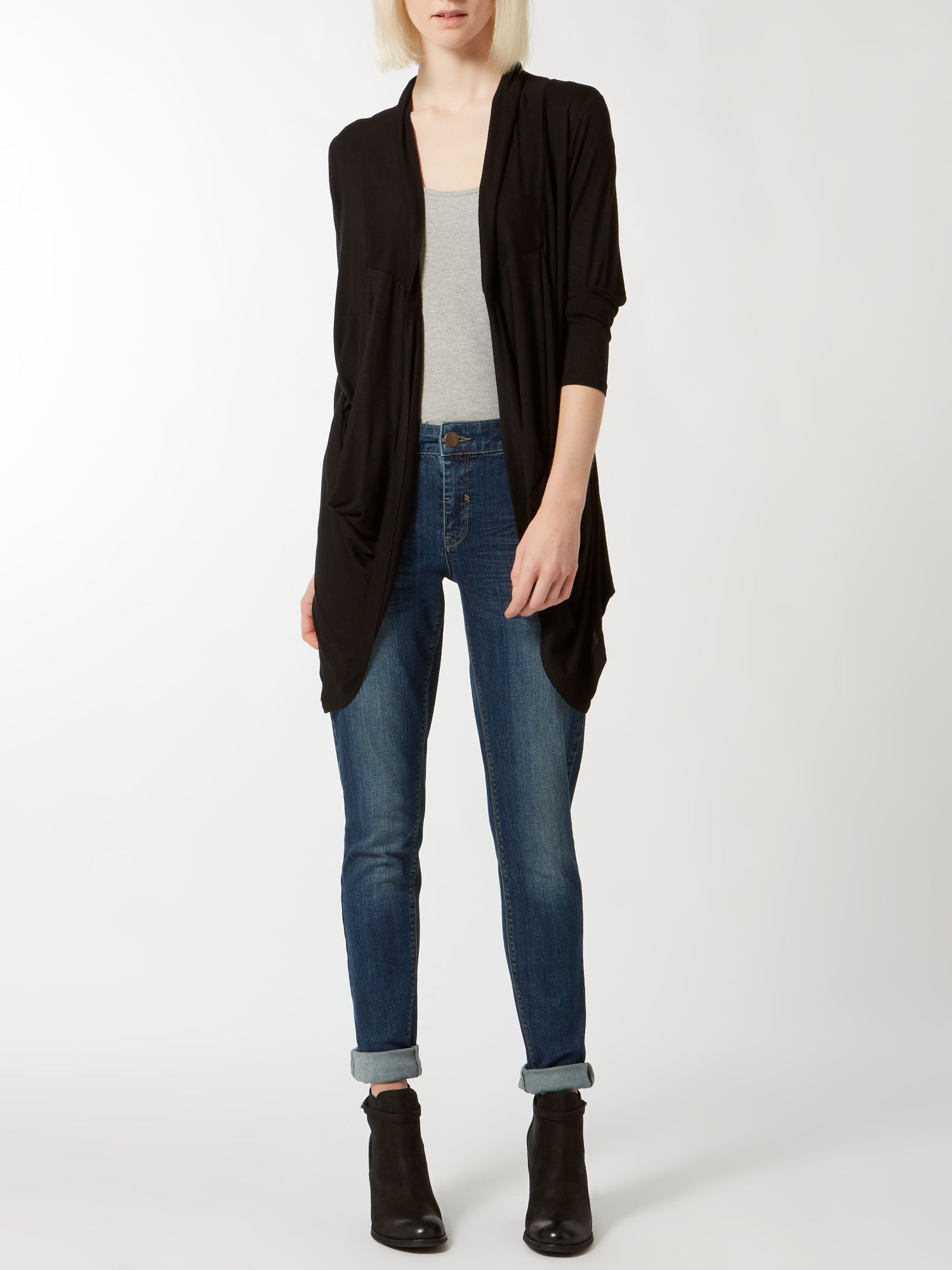 Slouch drape pocket cardigan