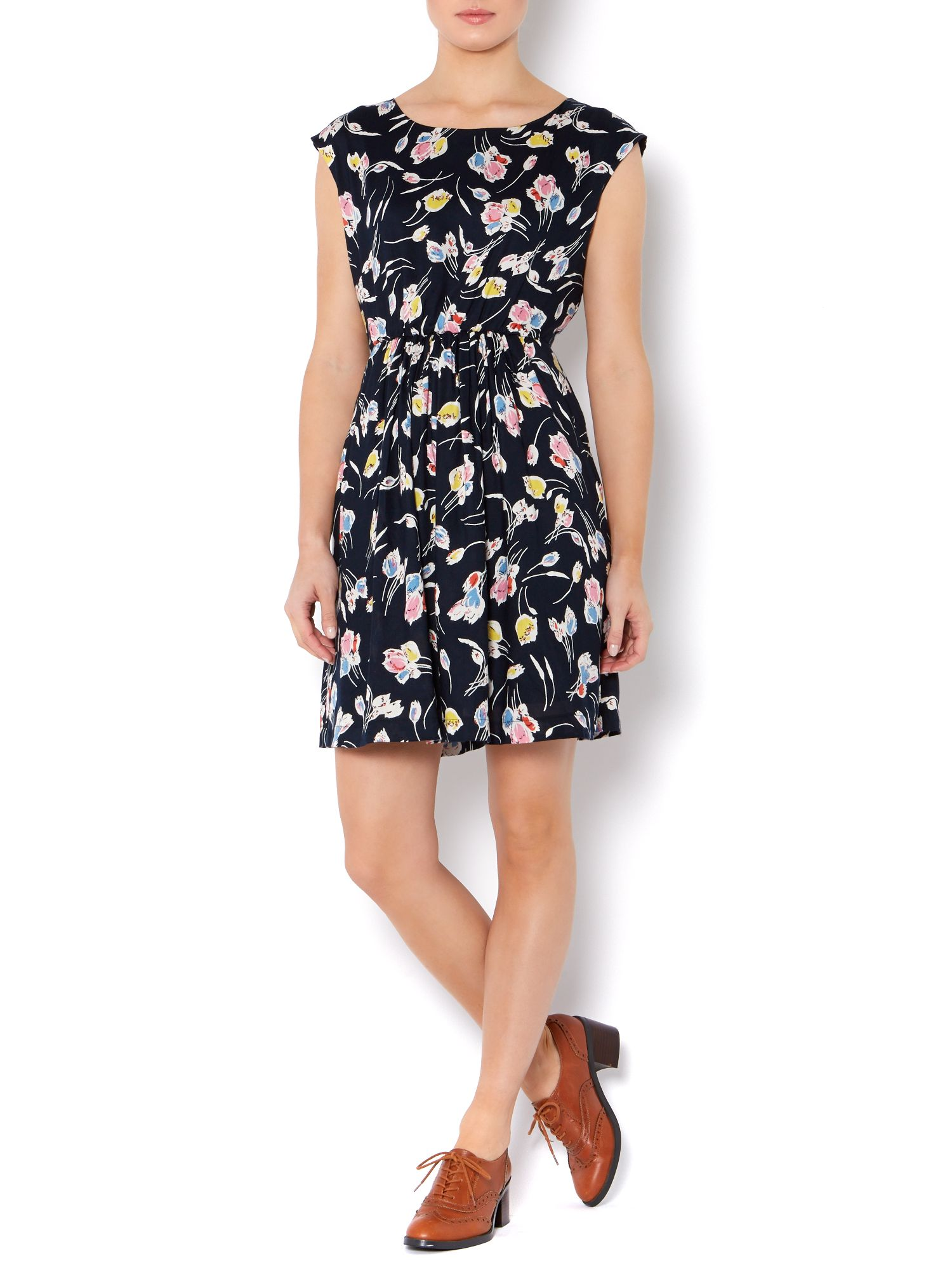 Floral print multi-coloured dress