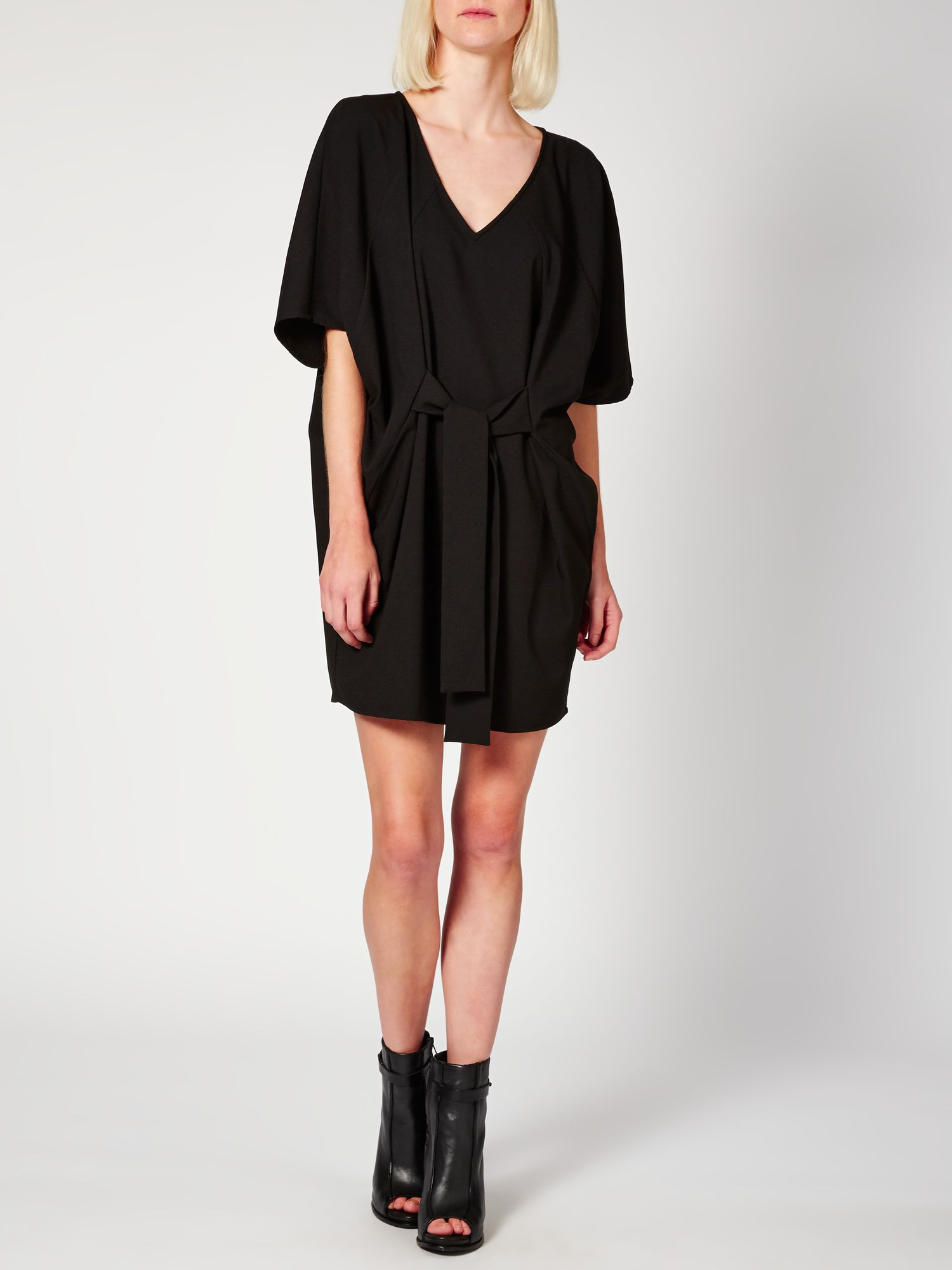V neck batwing dress