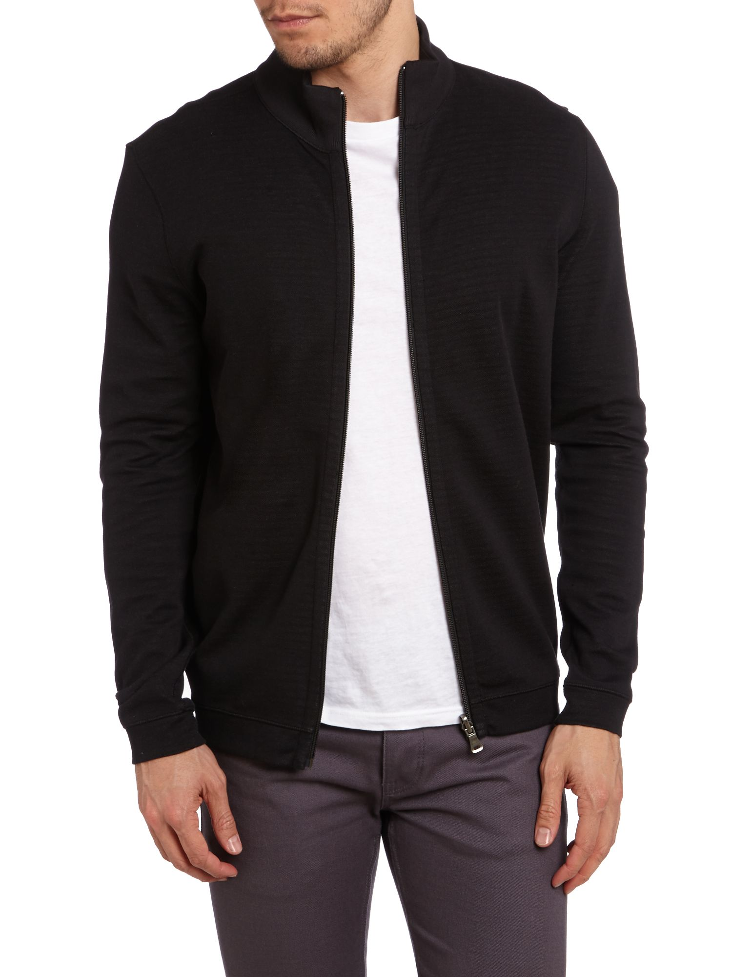 Zip up reverse sweatshirt