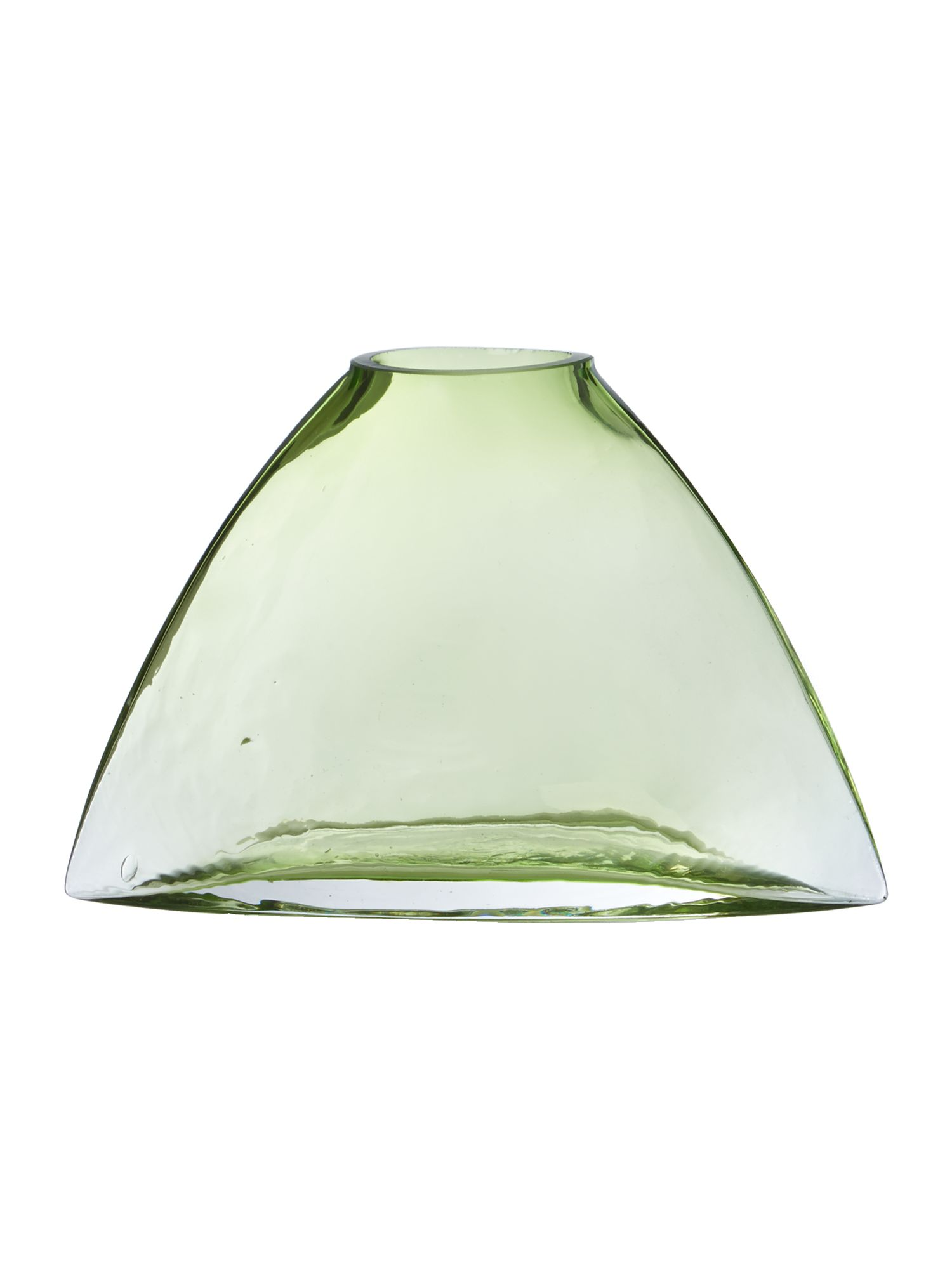Green glass vase, small