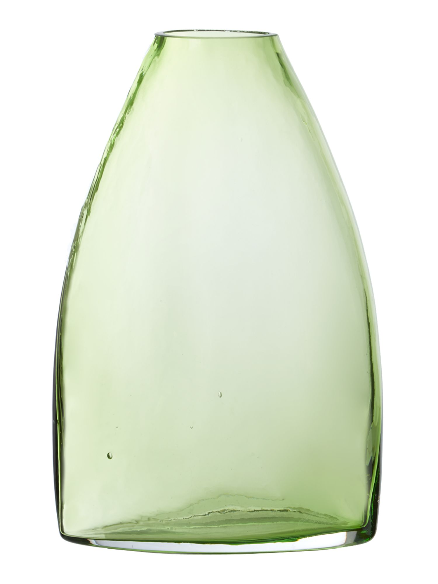 Green glass vase, medium
