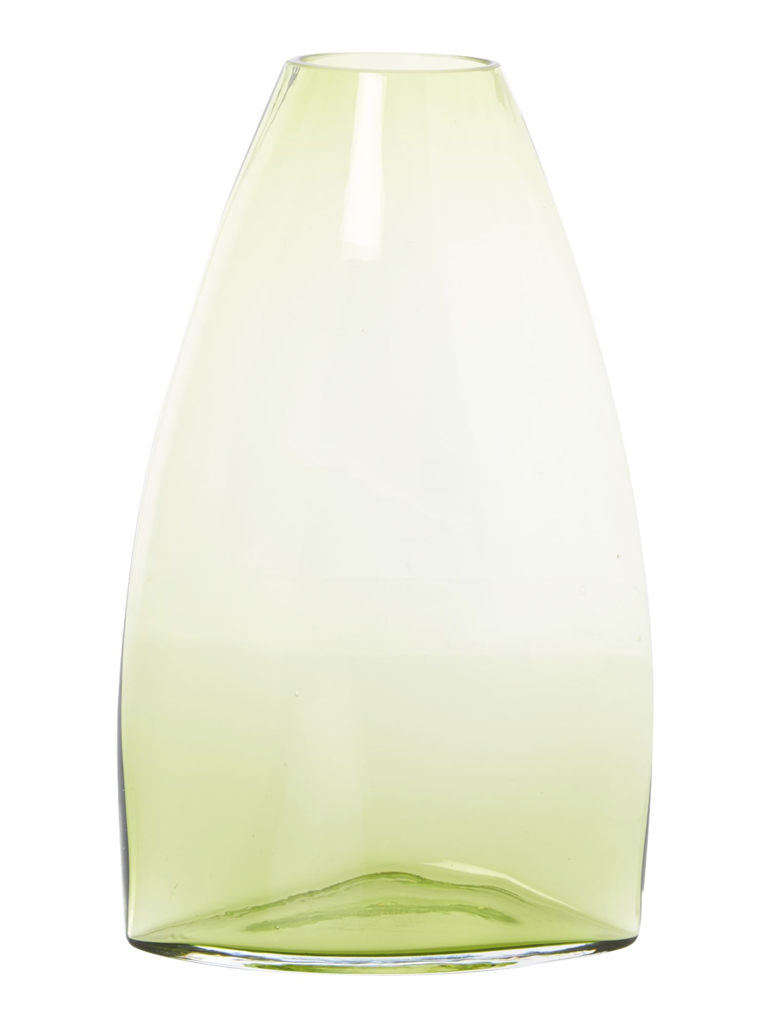 Green glass vase, large