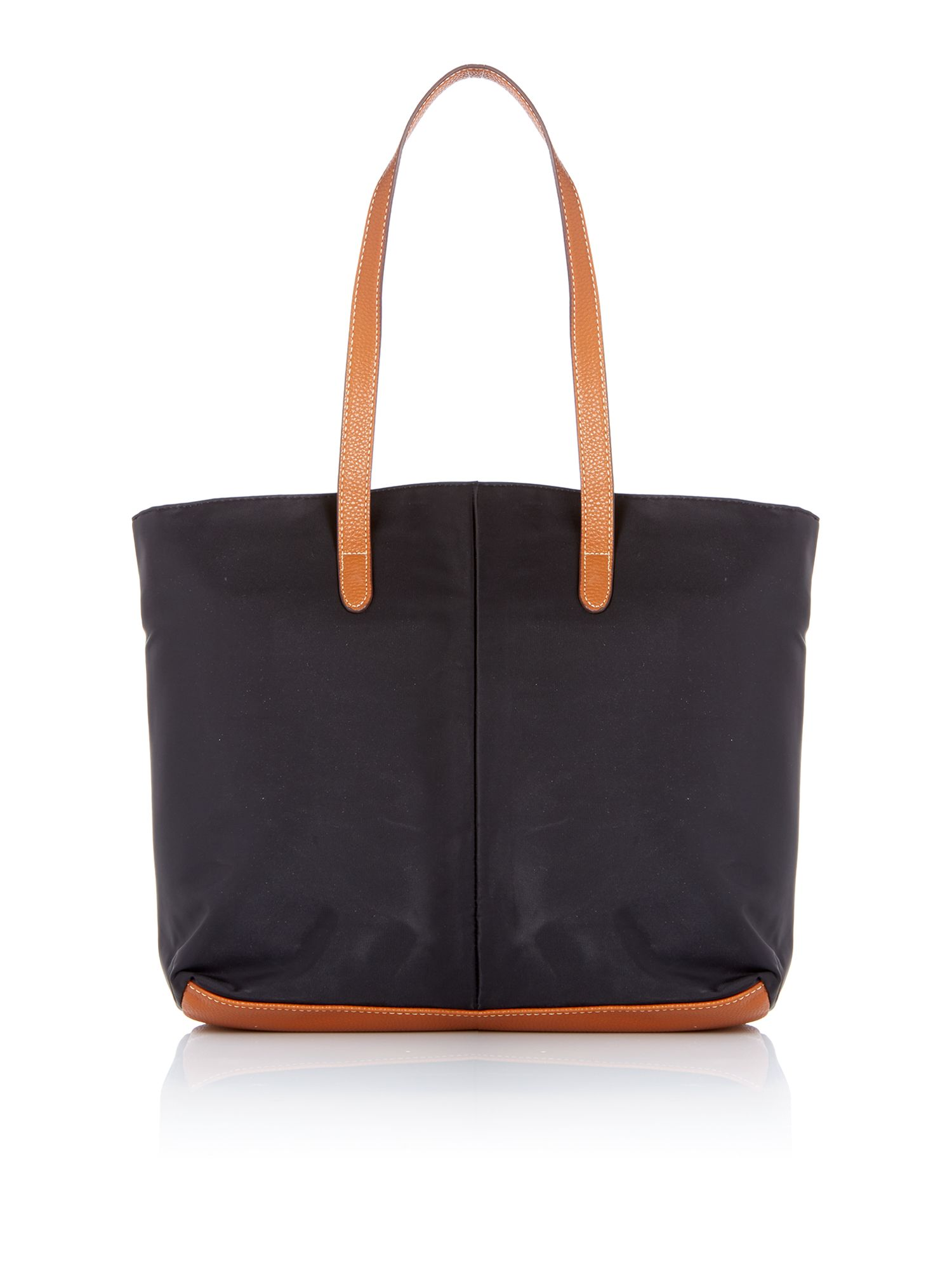Black tote with pocket