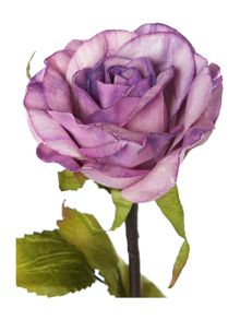 Lilac rose spray single stem