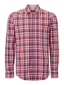 Long sleeve bright check shirt