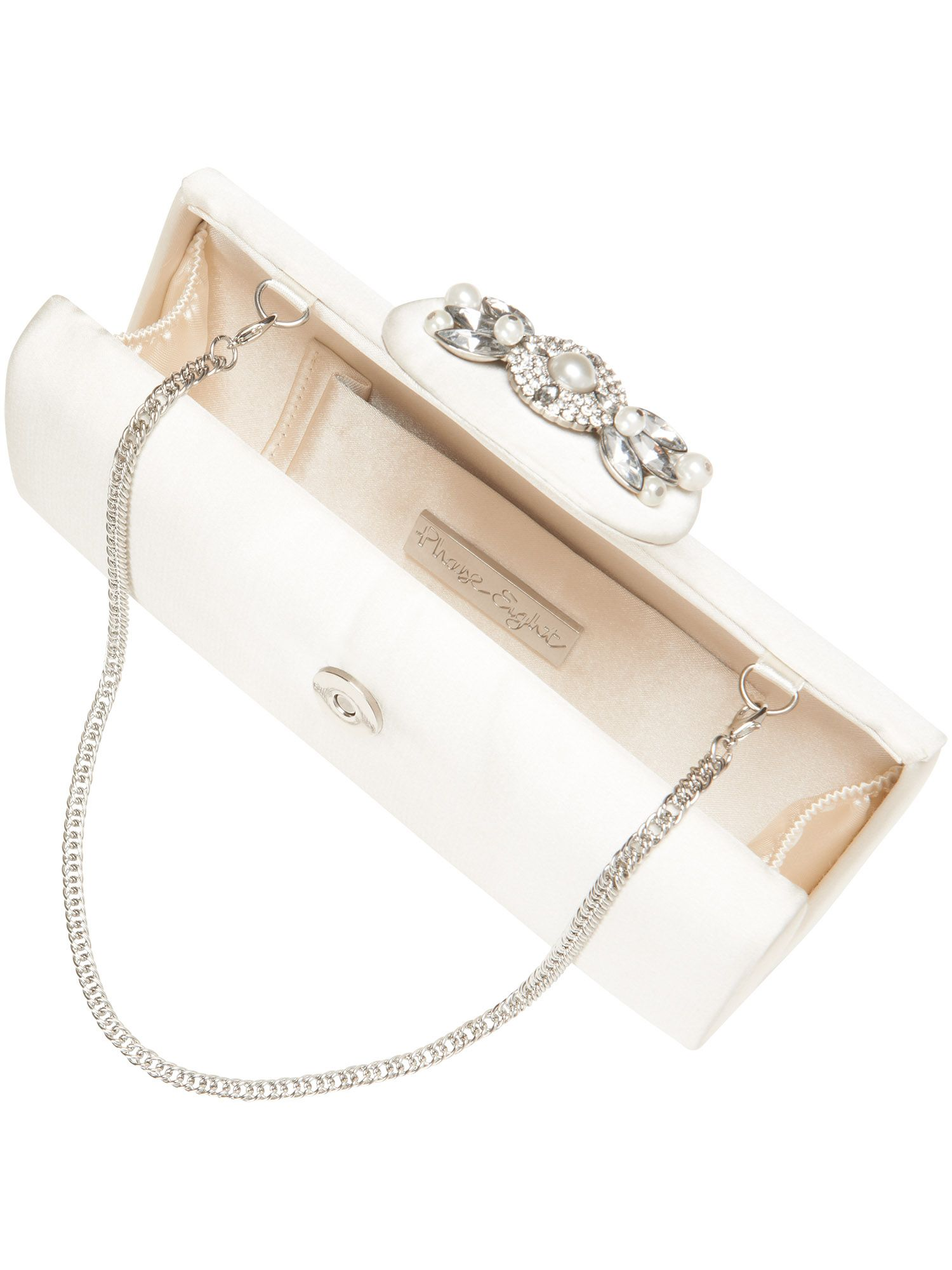 Jewel trim clutch bag