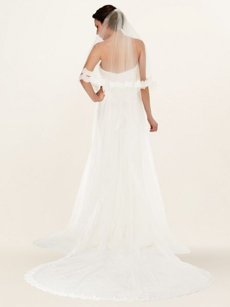 Phase Eight Esme lace trim veil