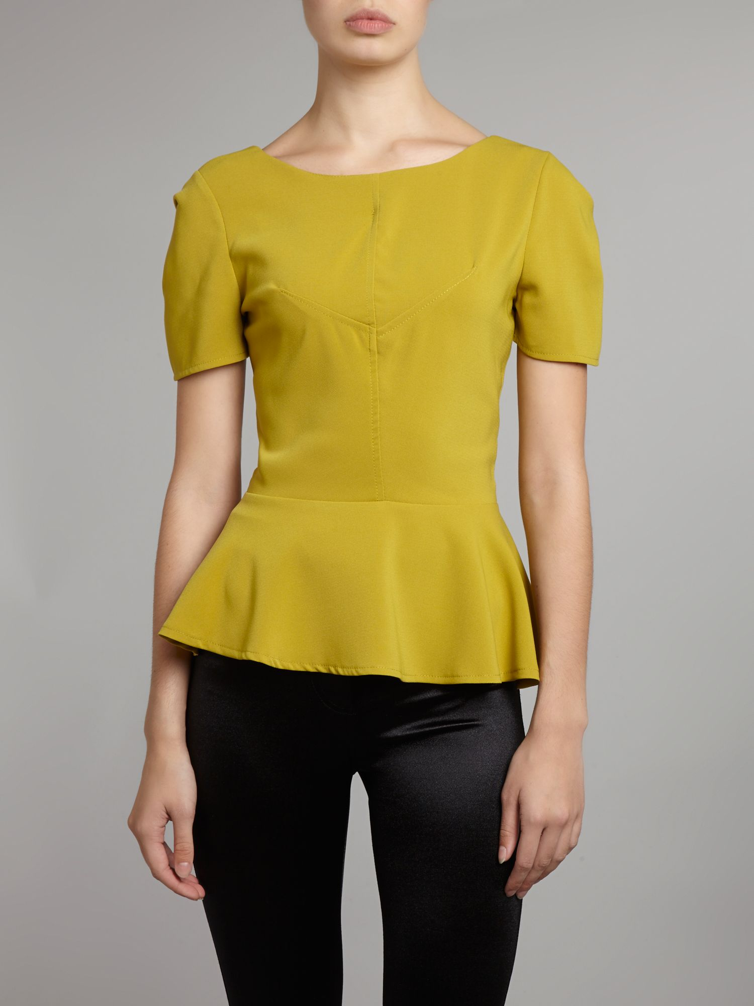 V back peplum top