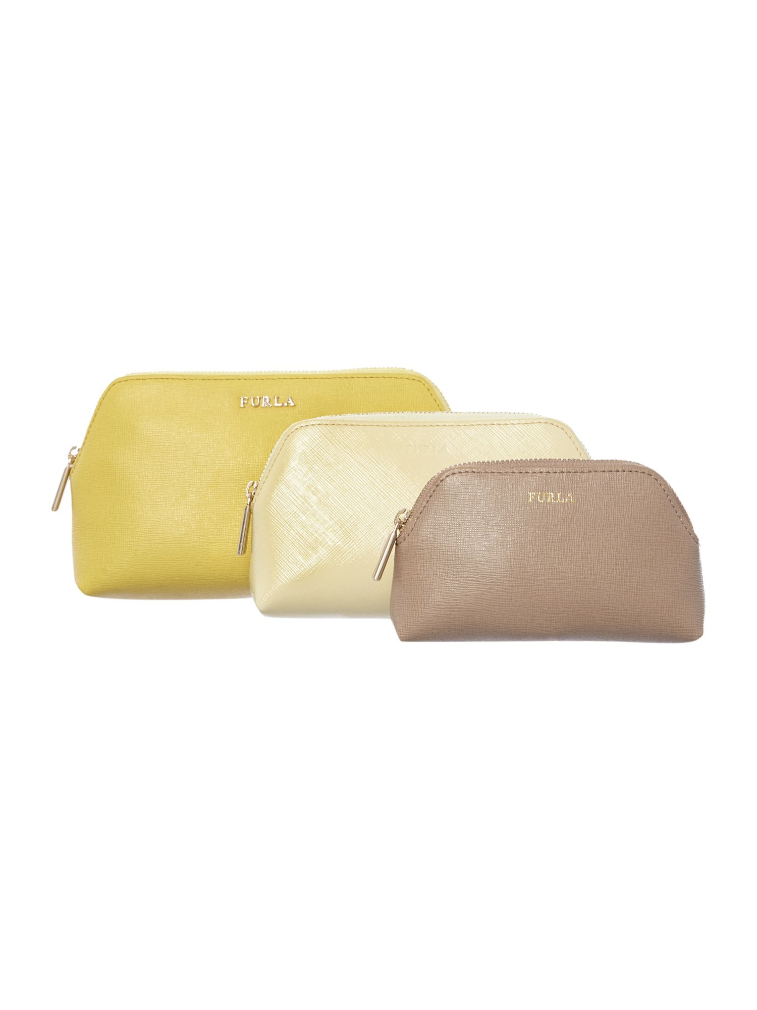 Isabelle multi coloured large cosmetic bag set