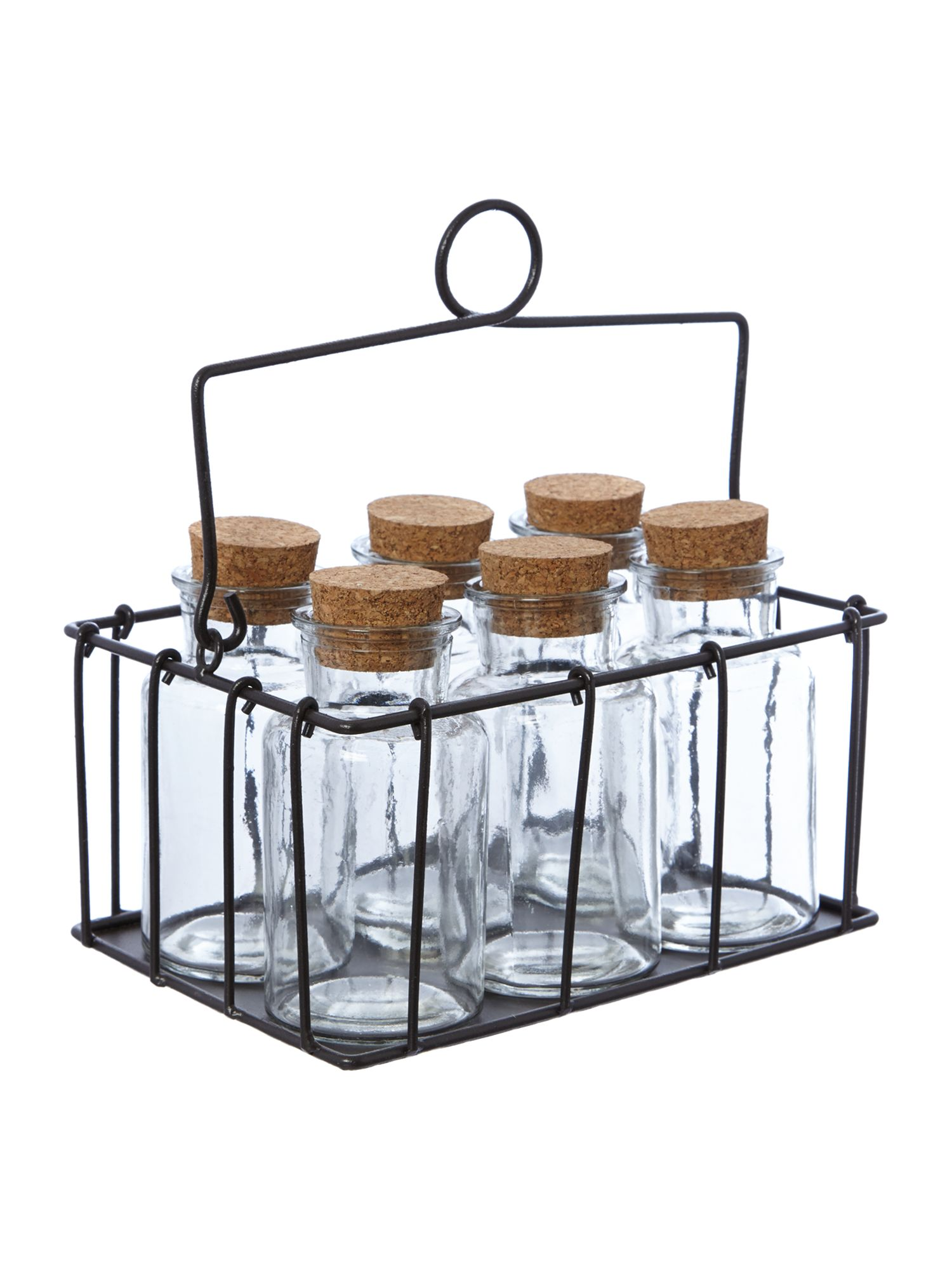 Spice bottles & rack
