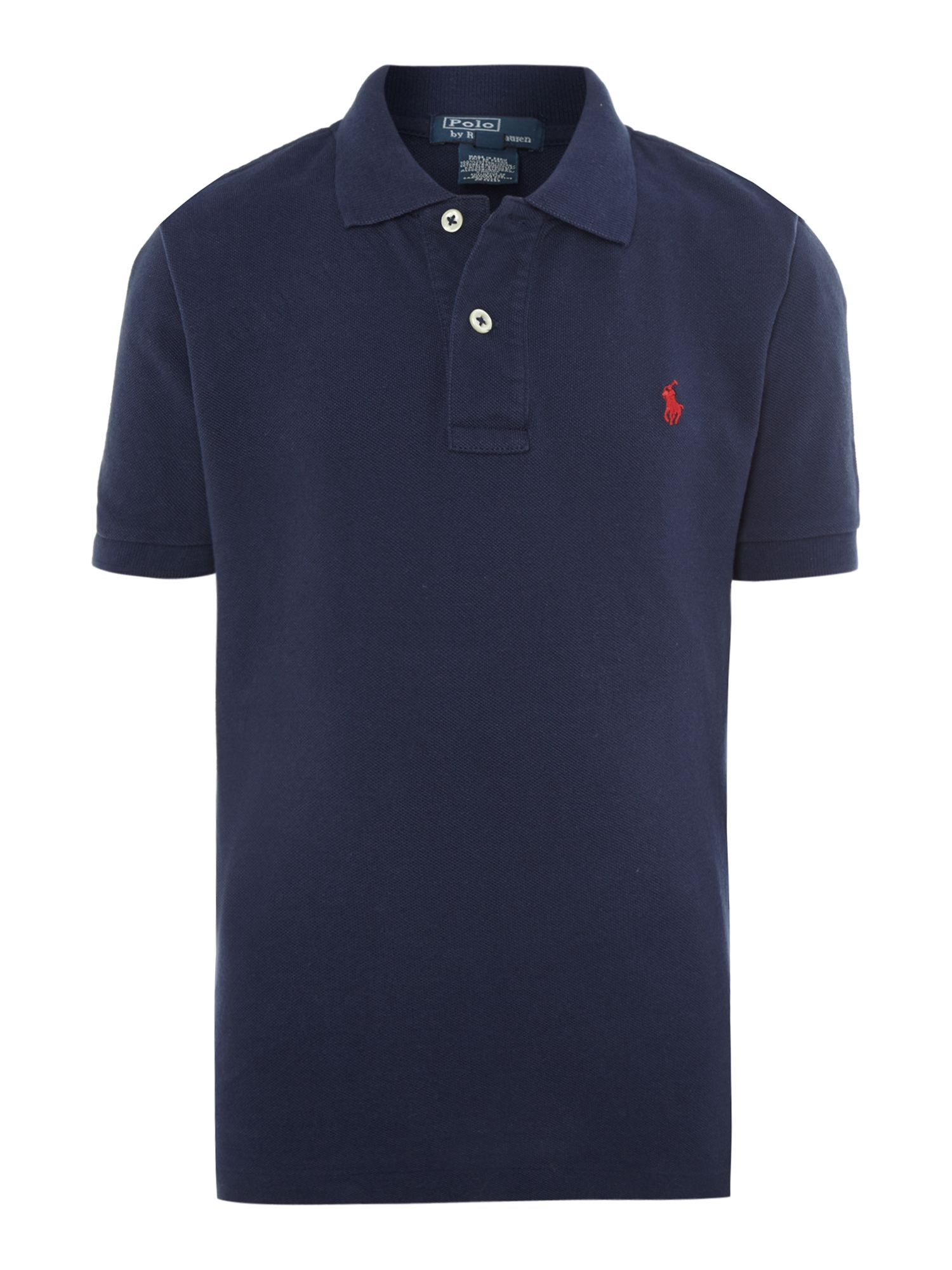 Boy`s small pony logo classic polo shirt