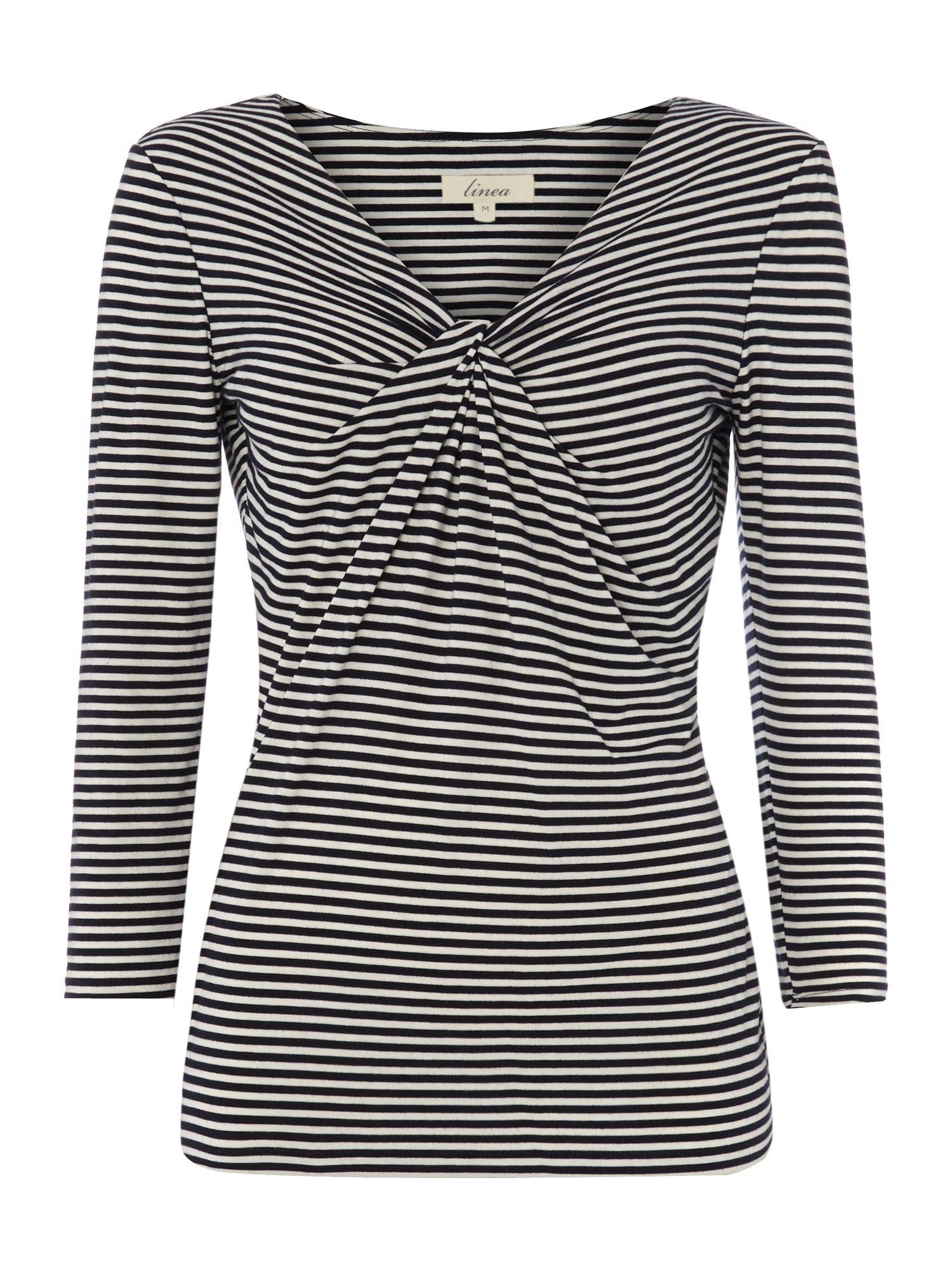 Stripe knot 3/4 sleeve top