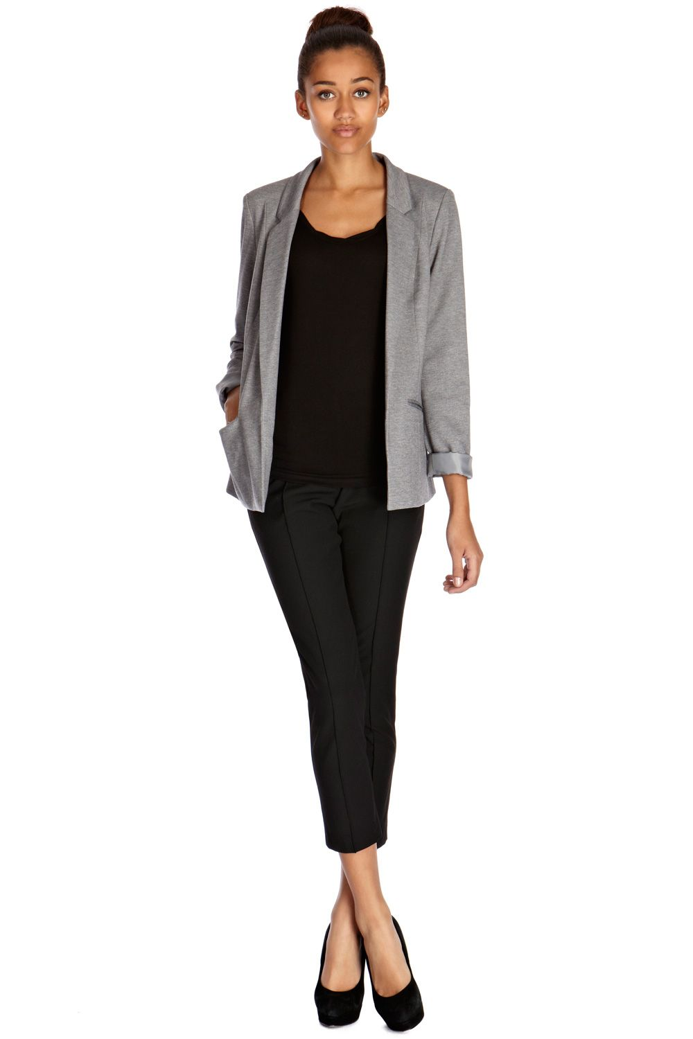 Seamed ponte jacket