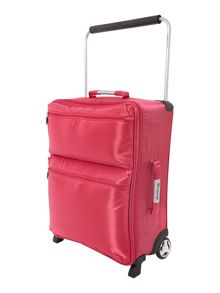 IT pink 2 wheels soft cabin suitcase