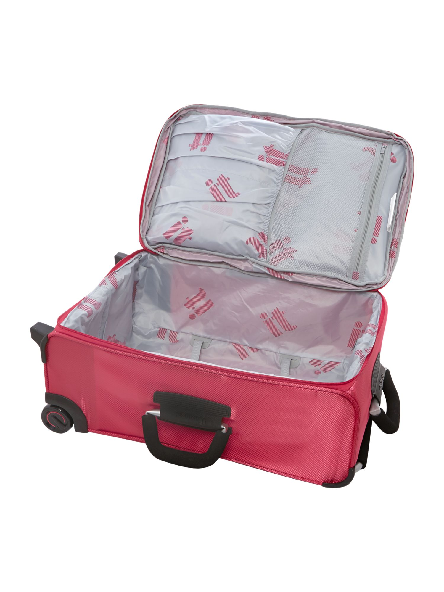 IT pink 2 wheels soft medium suitcase