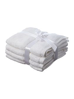 Luxury Hotel Collection Face Cloth in White (Set