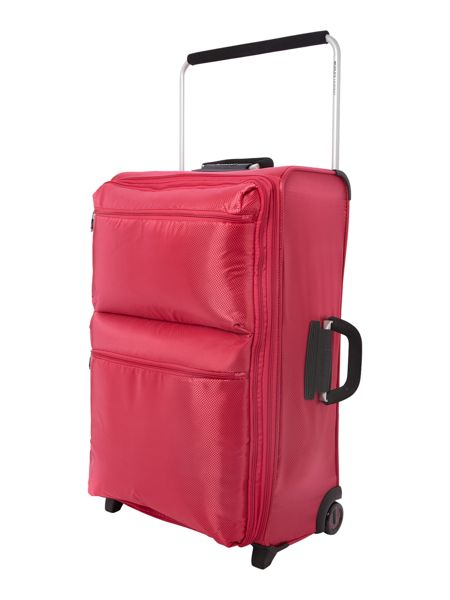 Linea IT pink 2 wheels soft large suitcase