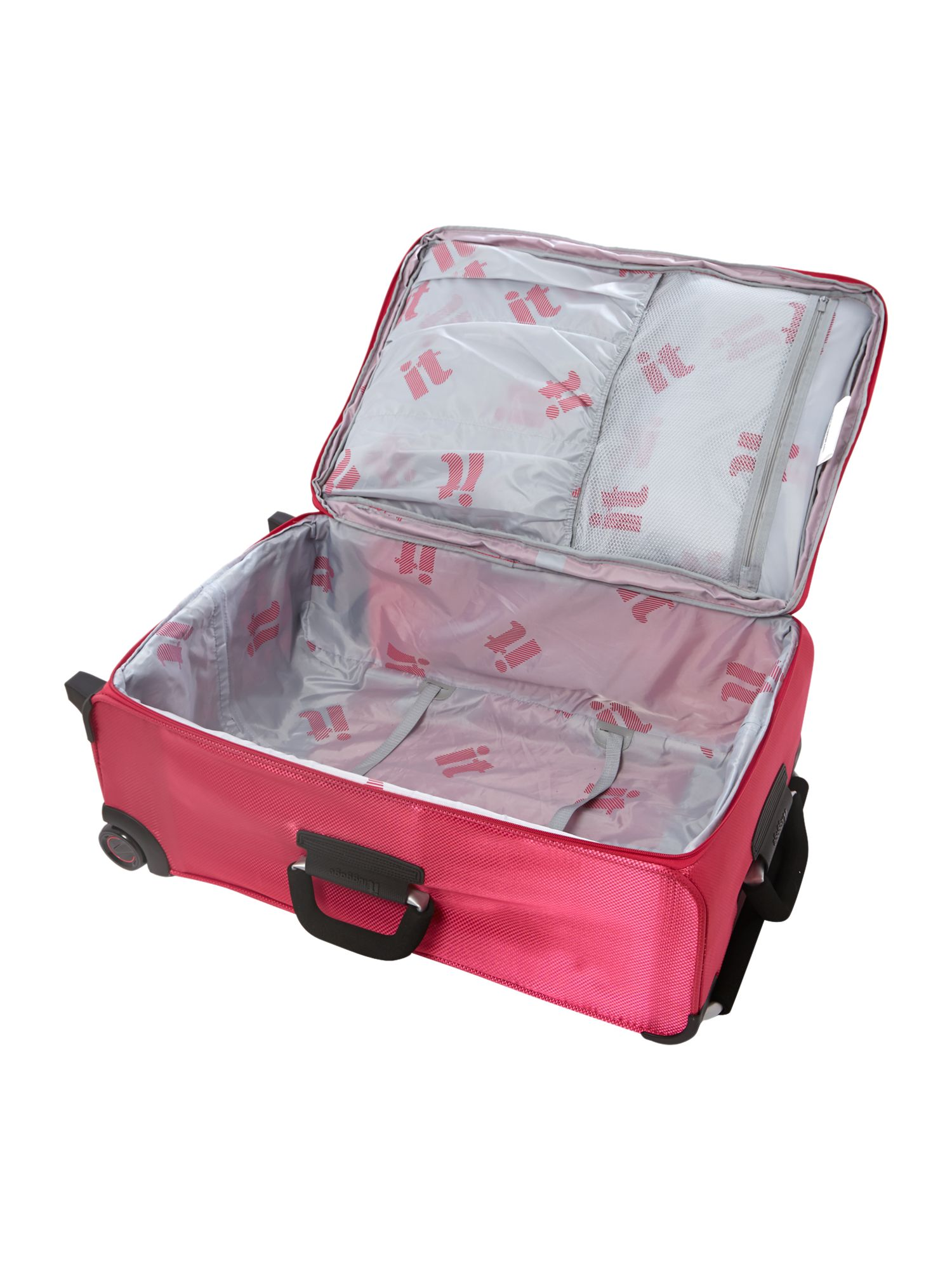 IT pink 2 wheels soft large suitcase