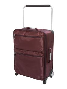 IT aubergine 2 wheels soft cabin suitcase